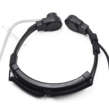 Extendable Throat Microphone Mic Earpiece Headset for CB Radio Walkie Talkie BAOFENG UV-5R UV-5RE Plus UV-B5 UV-B6 GT-3 UV-5X