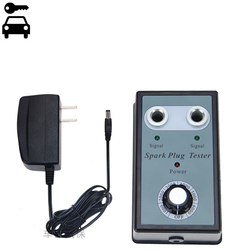 Verstelbare Dual Gat Vonken Plug Tester Spark Tester Diagnostic Tool Voor Auto Motor Bobine Checker Vonk Detector