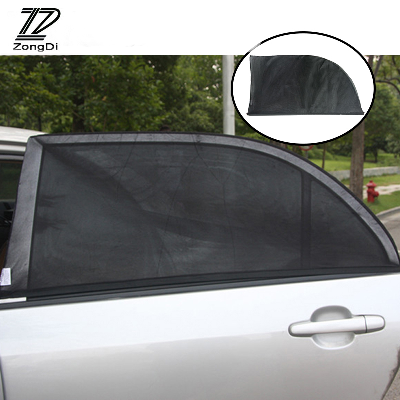 ZD 2Pcs For Alfa Romeo 159 BMW E46 E39 E36 E90 E53 Audi A3 A6 C5 A4 B6 B8 Car Window Windshield Sun Shade Visor Curtain Covers image