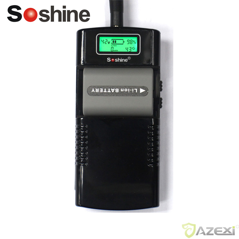 Soshine M20 digital camera charger phone battery LCD universal charger for Li-Ion battery 3.7V/7.4V Polarity Rechargeable batter ac battery charger cradle for canon nb5l digital camera