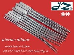 JZ Medical Gynaecology instrument 304 stainless steel uterine dilator Anus Cervical distractor Dilatation bar Open rod 3.5-25mm