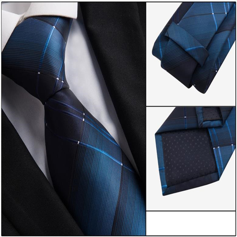 Men Ties Necktie 8cm Fashion Slim Men's Wedding Necktie Mens Cravates Jacquard Slim Tie Business Man's Wedding Dress Necktie