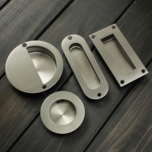 Hot Stainless Steel Door Handle Flush Recessed Pull Circular Oval Rectangular Hardware Drawer Embedded For Home Tools Free Ship(China)