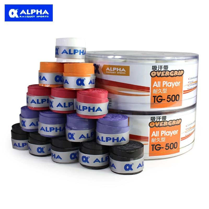 Alpha Бадминтон овергрипы 0.75 мм традиционный липкий Плёнки сцепление анти плесени и антибактериальные Бадминтон Overgrip 5 видов цветов