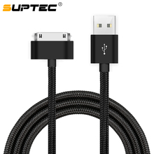цена на 30 Pin USB Cable for iPhone 4s 4 Charger Cable Alloy Plug Nylon Braided USB Cord Wire Fast Charging Data Sync Cable for iPad 2 3