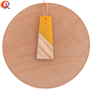 Image 4 - Cordial Design 30Pcs 19*49MM Jewelry Accessories/Hand Made/DIY Making/Trapezoid Shape/Natural Wood With Resin/Earring Findings