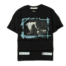 2017 Real Off White Brand Man Woman Tee With the Off white Tags Stripe Religious Jesus Virgil Abloh Brand T-shirt Z5719