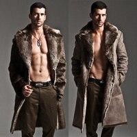 Two sides Wear Coats Men Fur Coat Winter Faux Fur Outwear Mens Punk Parka Jackets Leather Overcoats Hombre High Quality Clothes