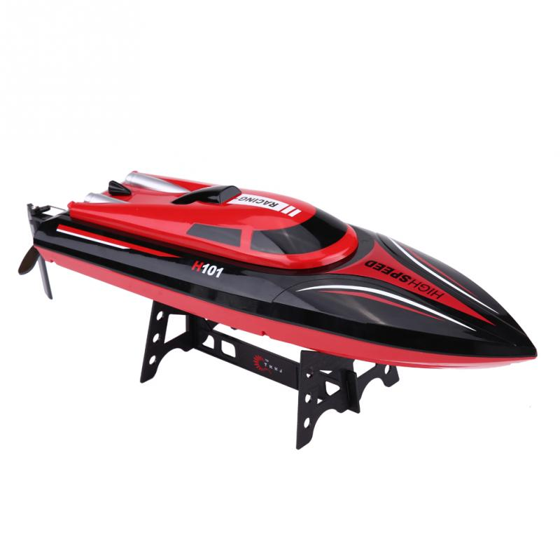 RC Model Boat Remote Control 2.4GHz 25km/h 4 Channel High Speed RC Boat Racing Speedboat Plastic Model Toys Gifts For Children