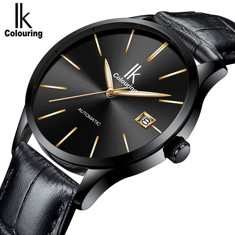 Original IK Watch Business Men's Watches Automatic Day Calendar Mechanical Watches Wristwatch Army Gift Box Free Ship original mg orkina orologio uomo luxury day flywheel automatic mechanical watch wristwatch gift box free ship