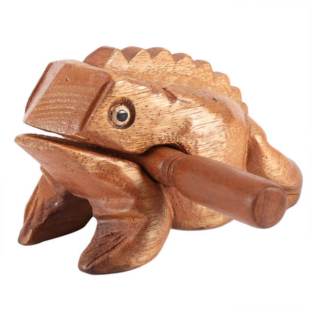 Hot Thailand Frog Feng Shui Lucky Craft Wooden Frogs Office Home  Decoration Art Figurines Miniatures Decoration Accessori