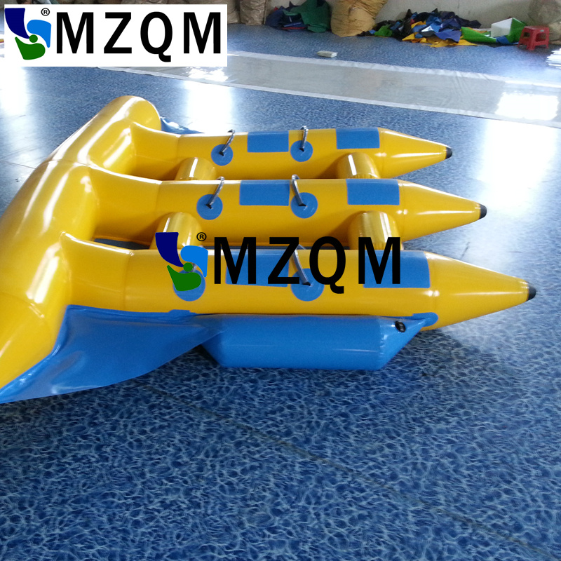 MZQM  6 persons use Commercial Quality Towable Inflatable Flying Fish for Water Game, Free Shipping and Air Pump Included free shipping free pump inflatable water games water toys inflatable water seesaw inflatable water totter for sale