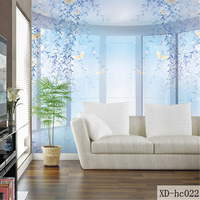 Custom 3D Print Fabric Textile Wallcoverings For Walls Murals Matt Silk For Living Room Flowers Chinese