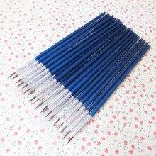 10Pcs/Set Fine Hand-painted Thin Hook Line Pen blue Baton Drawing Art Pen Paint Brush Art Supplies Nylon Brush Special Offer
