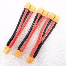 XT60 параллельный Соединительный кабель батареи двойной удлинитель Y сплиттер силиконовый провод батарея XT60 жгут для 2 пакетов параллельно