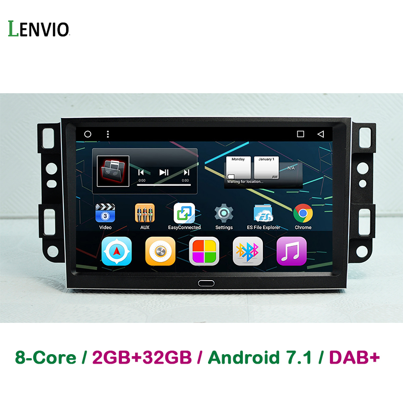 Lenvio 9 IPS RAM 2 GB + 32 GB Octa Core Android 7,1 reproductor de DVD GPS para Chevrolet epica Captiva Lova 2006-2011 Aveo Optra chispa
