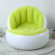 Children's Shell Flocking Inflatable Sofa Leisure Inflatable Seat For Bedroom Kids room Inflatable Chair With Air Inflator Pump(China)