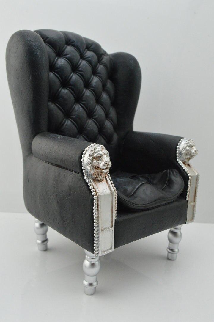 Cmtoys 1 6 Mobel Modell Schwarz Einzigen Sofa Couch Sessel F Diy