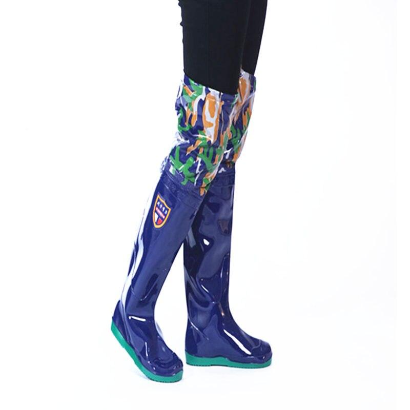 Bottes de pêche militaires de Camouflage de saut en hauteur 60 cm tricots imperméables à l'eau semelle souple unisexe largement utilisé Waders de pêche à sangle de cravate