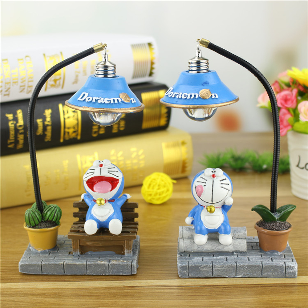 Children Room Decor Cartoon Doraemon Night Light Table Desk Lamps Grafts Kids Gift Home Decor Resin Figurines for Childrens Day