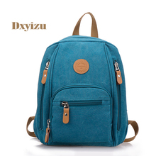 High-Quality Canvas Backpacks for Women College student school bag Solid Leisure Bags Durable Schoolbag Trend Laptop Backpacks