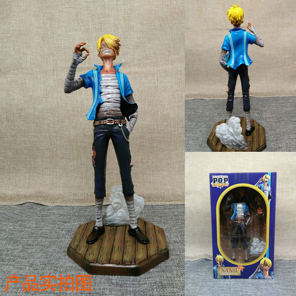 ФОТО NEW hot 23cm One piece Sky Piea sanji action figure toys collection doll christmas gift toy with box
