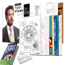 Agents Of SHIELD Iron Man File Folder A4 Document Kraft Bag Shool Office Archive Paper Tonystark Cosplay Accessories