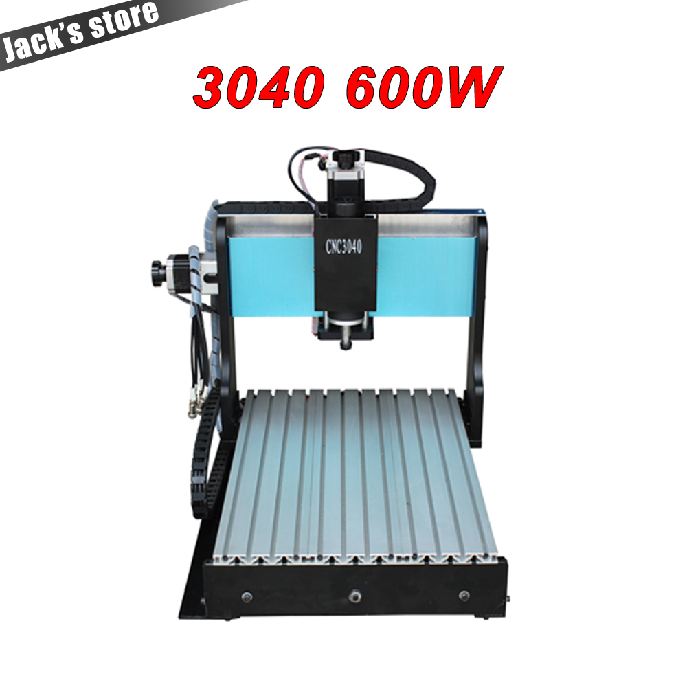 3040Z-DQ++, CNC3040 600W Ball screw wood PCB engraving machine milling carving machine CNC 3040 cnc machine cnc router russia no tax 1500w 5 axis cnc wood carving machine precision ball screw cnc router 3040 milling machine