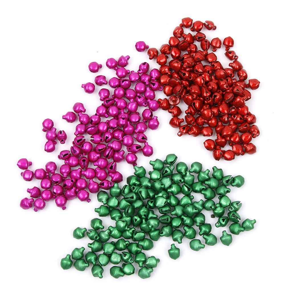 Sinos De Natal do 100 pçs/lote Solta Pérolas Pequeno Jingle Bells Árvore de Natal da Decoração Do Natal Presente Capina Festa de Aniversário Decoração