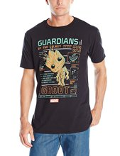 2017 New Cotton Tees Men's T Shirts Funko Men's Pop! T-Shirts: Guardians Of The Galaxy – Groot Line Up