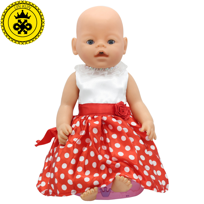Baby Doll Clothes Fit 43cm Baby Zapf Doll Handmade Princes Red