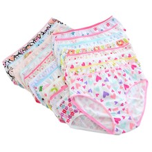 Fashion Baby Girls Soft Cotton Underwear Panties Kids Girls Short Briefs Children Underpants 6pcs/pack