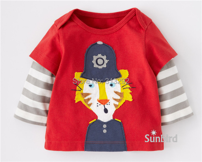 Boys T-Shirts Cartoon-Top Tiger Long-Sleeve Baby Children Cotton for 1-6 Year. BJT252