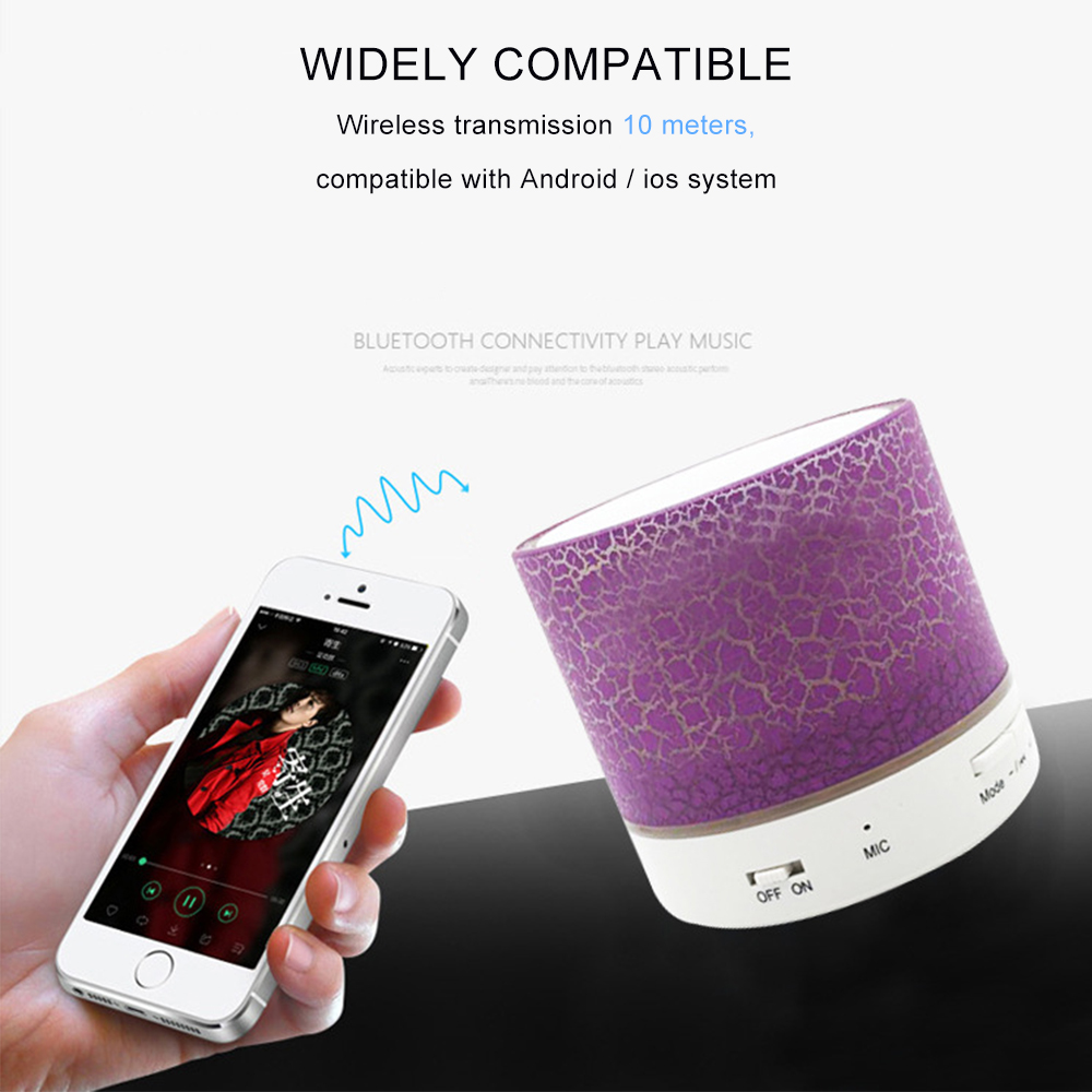 Bright Fashion Novel Portable Bluetooth Speaker Wireless Loudspeakers For Phone Laptop Subwoofer Music Player