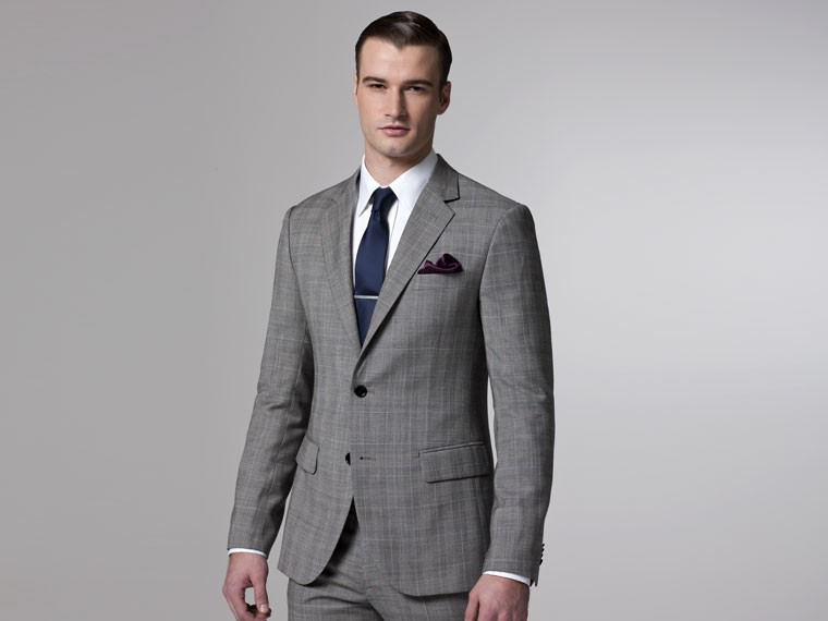 Aliexpress.com : Buy Grey Suit Custom Made Suit Skinny Men's