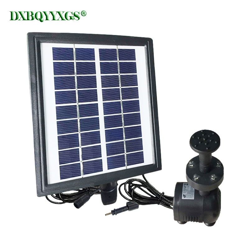 Solar plus battery landscape Fountain device brushless Water Pump For Outdoor Family Garden Park rockery Fountain