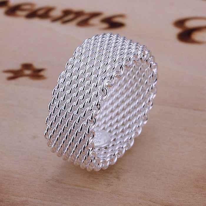 เงิน 925 แหวนแฟชั่นแหวนผู้หญิงเครื่องประดับเงินเครื่องประดับเงินแหวน SMTR040