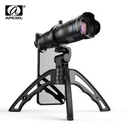 APEXEL-Оптический Телефон объектив камеры HD 28X металлический телескоп объектив Монокуляр с мини селфи Штатив для iPhone 78 Xiaomi всех смартфонов