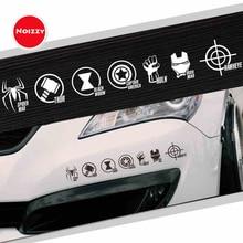 Noizzy Marvel Мстители Хо супер герой логотип машины Авто Наклейка виниловая Светоотражающая мотоциклетная оконная дверь боковая Настройка автомобиля Стайлинг
