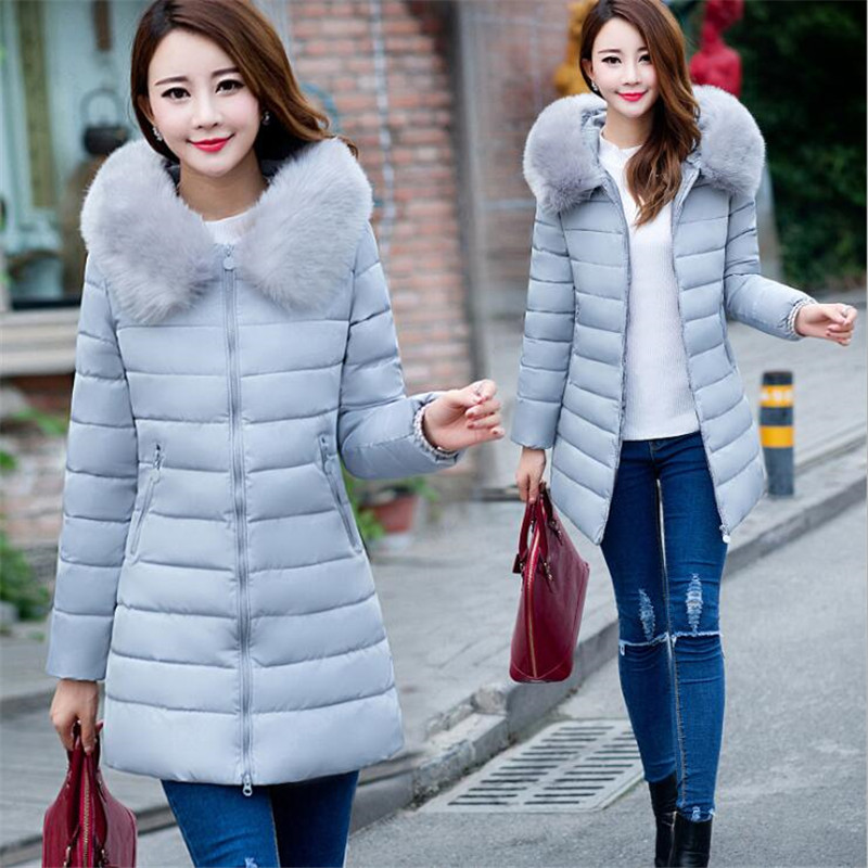 ef9ef2458a2 New 2018 Winter Jacket Women Heavy Hair Collar Fur Collar White Duck Down  Women Coat Plus Size 5XL 6XL 7XL Female Hooded Outwear-in Parkas from  Women s ...