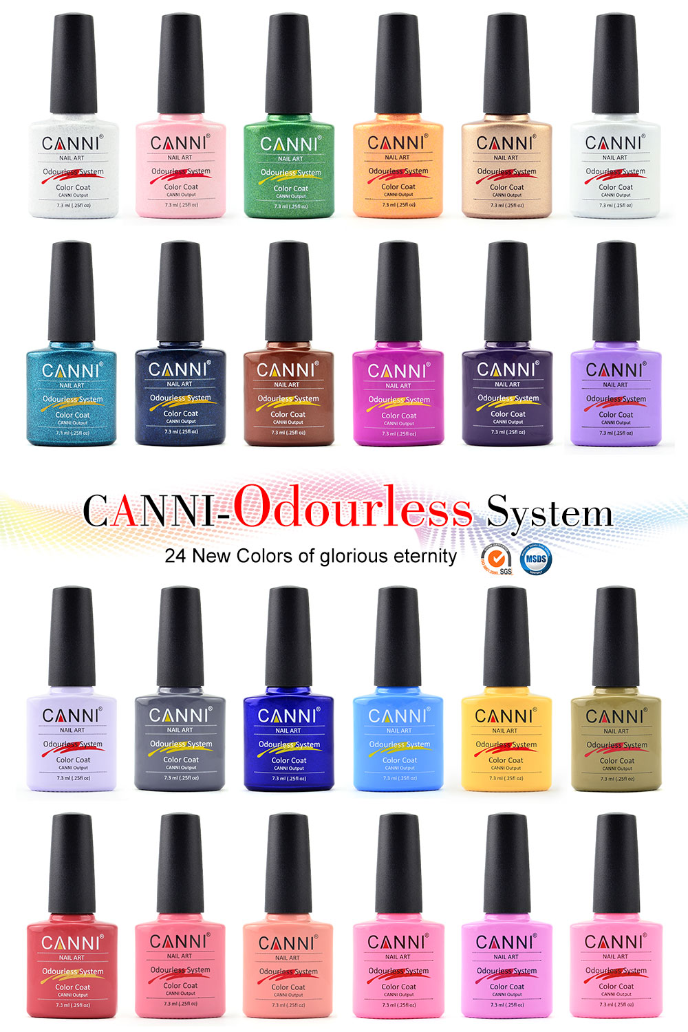 2017 CANNI brand new 24 color high quality product soak off odorless ...