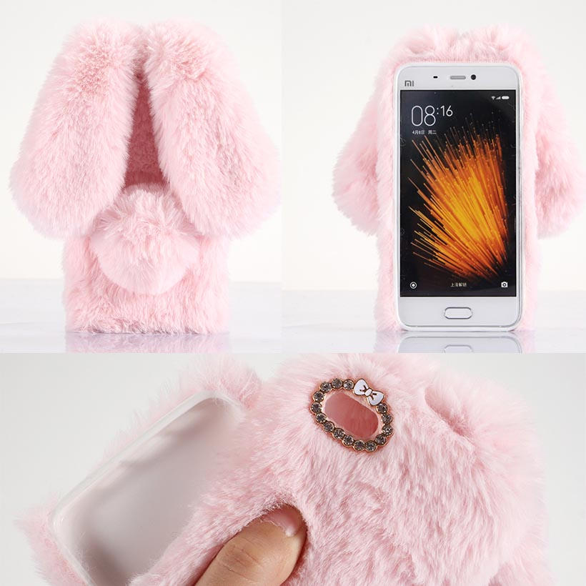 Cases Covers For Xiaomi Mi5 Prime Pro Xiaomi 5 Mi 5 m5 Prime Pro Plush Rabbit