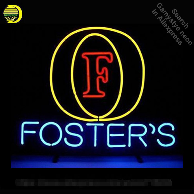 Foster's Logo Sign neon Signs Real Glass Tube neon lights Recreation Windows Professiona Iconic Sign Advertise neon sign board|Neon Bulbs & Tubes| |  - title=