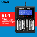 Original XTAR VC4 4 Slots Universal Intelligent USB Battery Charger with LCD Display for Ni-MH Li-ion 18650 26650 32650 Battery
