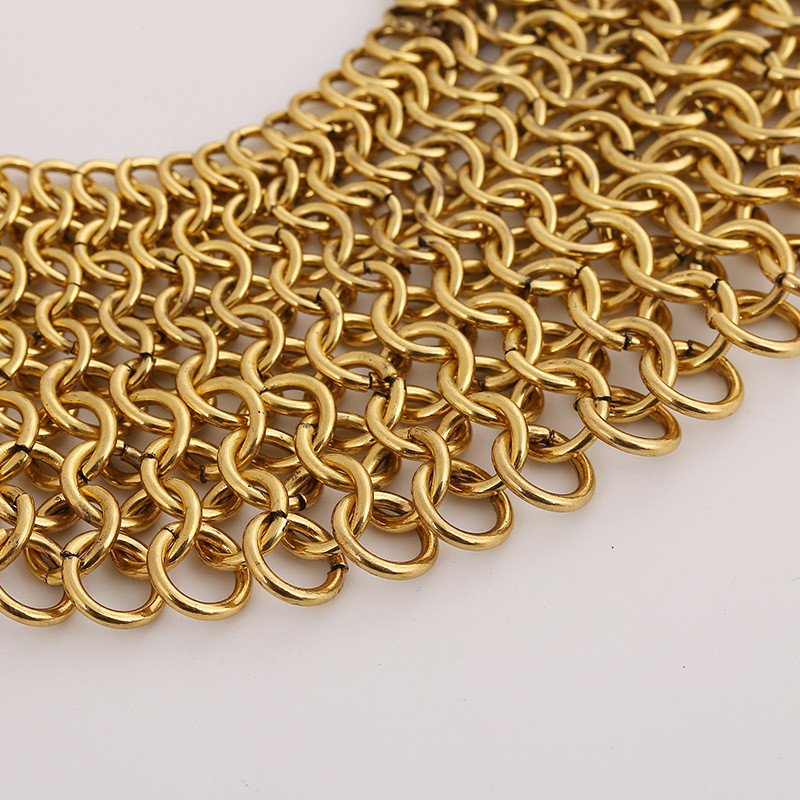 6bda4b72408cd っLZHLQ Maxi Geometric Splice Choker Necklaces Fashion Women Brand ...