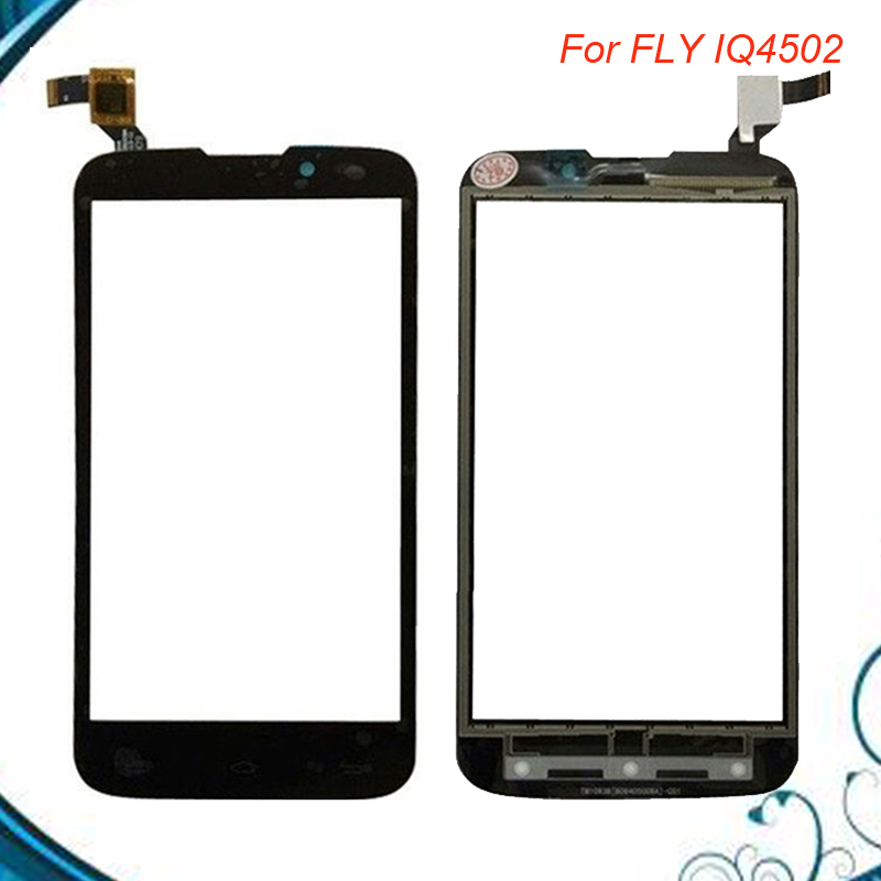 100% NEW Touch Panel For Fly IQ4502 IQ 4502 Qud ERA Energy 1 Touch Screen Digitizer Replacement Black Color