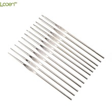 12pcs/set Looen 0.6-1.9mm Small Size Crochet Hooks Set Mix Sizes Knitting Needles For Yarn Weave Tools Lace