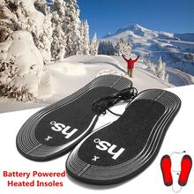 Unisex Winter outdoor Battery Heating insole, warm about 50 degrees Carbon Fiber Heating insoles Can Cut Carbon Fiber Foot Pads