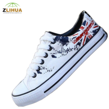 Cartoon LCH Flag Pattern Union Jack Graffiti Hand Painted Shoe Male Shoes Platform for Boys Girl Kids Children Men Casual Shoes