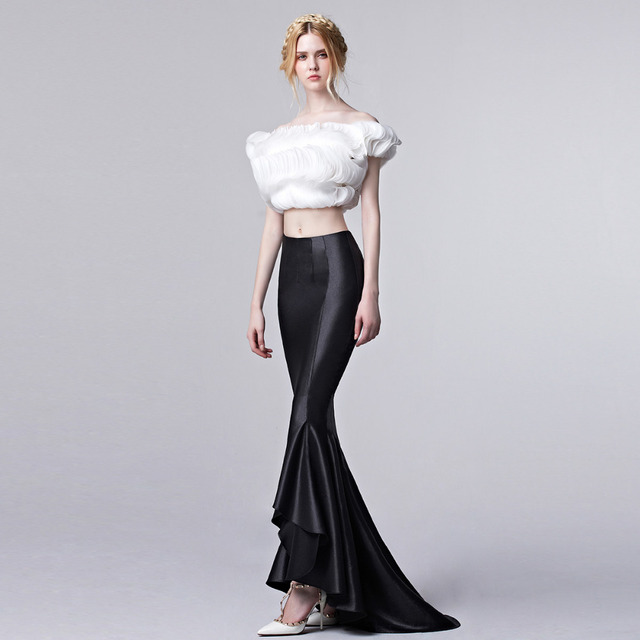 Coniefox 31310 1 Elegant Long Mermaid Two Piece Prom Dresses 2016 ...